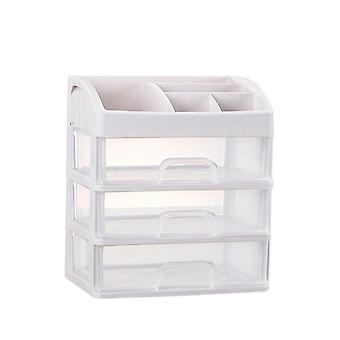 2/3 Layer Plastic Comestic Storage Box, Makeup Organizer