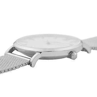 Cluse CW0101203002 Women's Minuit Silver Tone Mesh Wristwatch