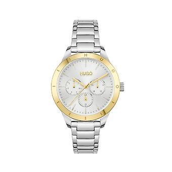 HUGO 1540090 Amigo Ouro e Prata Aço Inoxidável Relógio