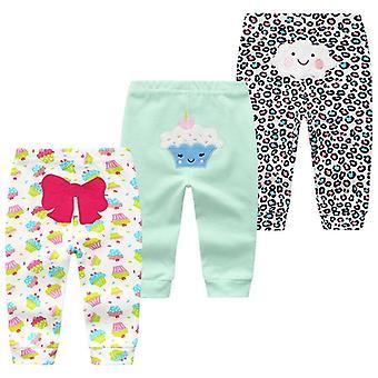 3pcs/lot Cartoon Print Baby Pants Cotton Baby Leggings Pants