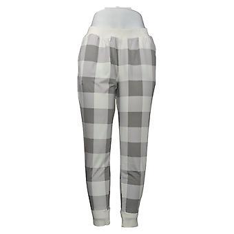 Cuddl Duds Women's Petite Pajama Pants Jersey Jogger Gray A381803