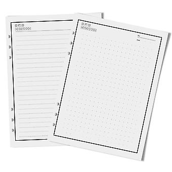 50 feuilles 100 pages réutilisables bloc-notes remplissage intérieur de papier compatible avec pu a5 intelligent portefeuille portable effaçable