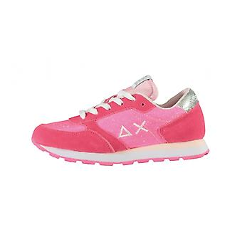 Shoes Baby Sun68 Sneaker Girl's Ally Solid Suede Fuxia Zs21su13 Z31404