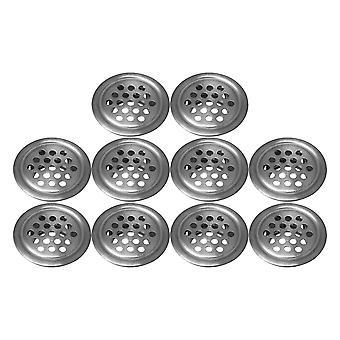 10pcs plata aire respiraderos circulares Soffit redondo vent malla agujero 29mm dia