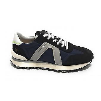 الرجال أحذية طموحة 11538 حذاء رياضي تشغيل الأزرق البحرية / أبيض US21am23