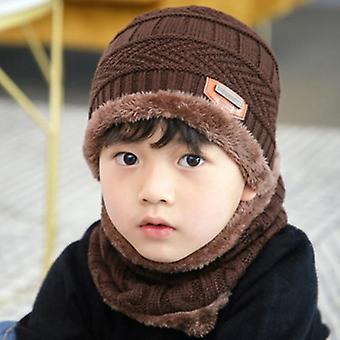 Knitted Baby Hats Scarf Turban Beanie Cotton Warm Wool Fur Soft Hat
