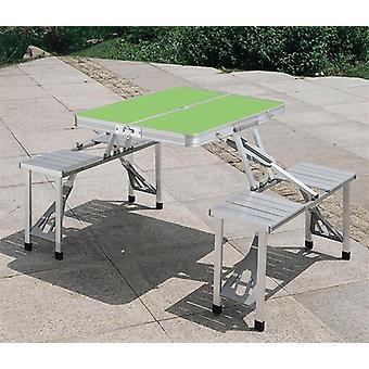 屋外折りたたみテーブルチェアセット - ポータブルキャンプピクニック家具