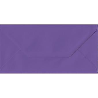 Intense Purple Gummed DL Envelopes. 135gsm GF Smith Paper. 110mm x 220mm. Banker Style Envelope.