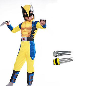 Wolverine Cosplay Kostüm engen Muskel Anzug Fancy Party X-Men