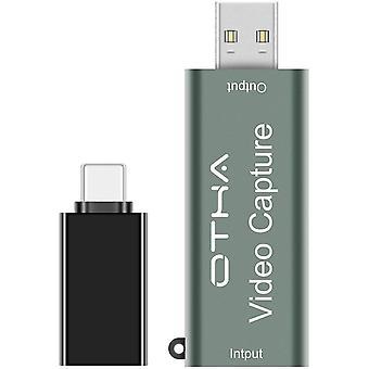 Wokex Video Capture Card 1080p 60fps für OBS, HDMI Videoaufnahmekarte USB 2.0 Audio Grabber,HD Video