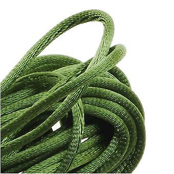 Final Sale - Rayon Satin Rattail 1mm Cord - Knot & Braid - Olive Green (6 Yards)