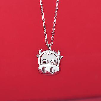 S925 silver necklace classic mother day gift for women and girls cute cow