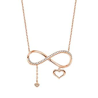 Amor Necklace with women's pendant, silver 925, 42 + 3 cm, Infinity, again, white