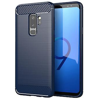 Tpu carbon fibre case for samsung s9 plus blue mfkj-573