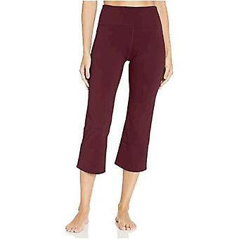 "Brand - Core 10 Women's (XS-3X) 'Studiotech' Cropped High Waist Flare Yoga Pant - 24"""