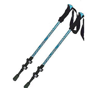 2pcstrekking Pole Portable Aluminium Alloy Trekking Pole Télescopique Réglable