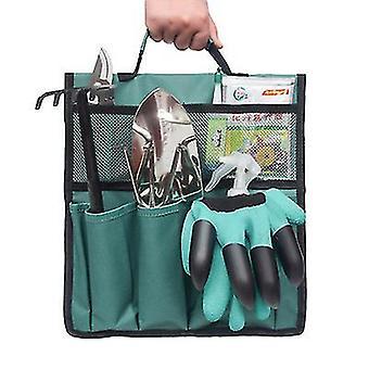 Green foldable portable garden tool bag organizer x4051
