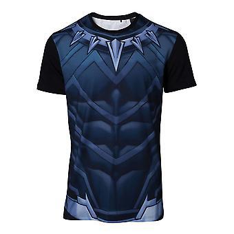 Black Panther - Sublimation Men's Large T-Shirt - Blue