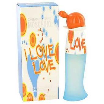 I Love Love By Moschino Eau De Toilette Spray 1 Oz (naiset)