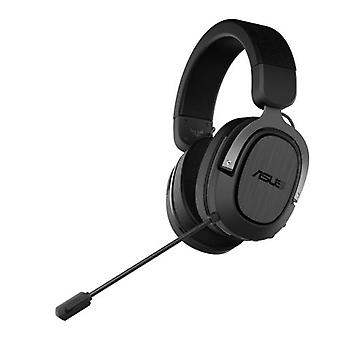 Asus Gaming H3 Casque de jeu sans fil, USB-C (adaptateur USB-A), Boom Mic, Son surround, Basses profondes, Coussins d'oreille à refroidissement rapide, Gun Metal