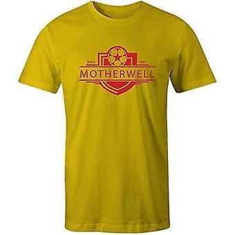 Sporting empire motherwell 1886 established badge kids football t-shirt