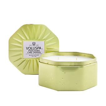 Voluspa 3 Wick Octagon Tin Candle - Peruvian Lime Jardin 340g/12oz