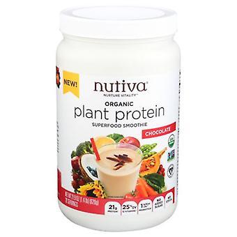 Nutiva Organic Plant Protein, Chocolate 21.9 Oz