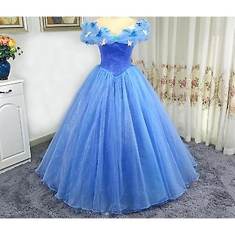 Off The Shoulder Butterfly Decoration Cinderella Cosplay Prom Dress (Set 2)