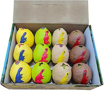 12pcs דינוזאור ביצה חרדה הקלה צעצועים מעוך צעצועים לילדים