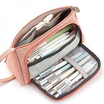 Stylo de grande capacité de cas de crayon, sac de crayon, boîte d'école