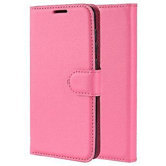 Huawei Mate 20 lite odpinany portfel Folio Leather Shell Case - Ciemnoróżowy