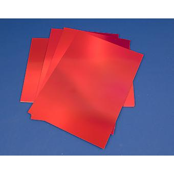 10 Red A4 Metallic Foil Mirror Boards for Crafts 340 Micron   Coloured Card for Crafts