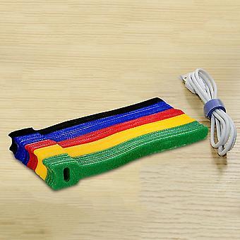 Colored Plastics Reusable Cable Ties, Nylon Loop Wrap Zip Bundle Ties