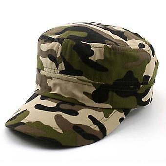Kesä muoti armeija naamioi litteät hatut