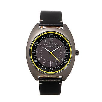 Breed Victor Leather-Band Watch - Black