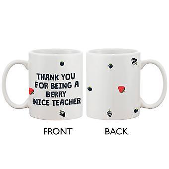 Hauska keraaminen Kahvi Muki rohkea - Marja mukava opettaja