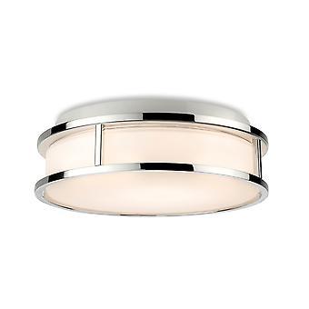 Firstlight Adelaide Badkamer Cilindrisch LED Inbouw Plafond Fitting Chroom met Opaal Wit Glas IP44