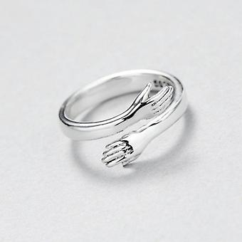 smykker kjærlighet klem ring retro mote tidevann flyt