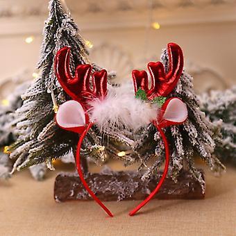 1pc Christmas Headband Santa Tree Elk Antlers Hairhoop Kid Adults Headwear Reindeer Elf Ears Christmas Party Decorations Prop