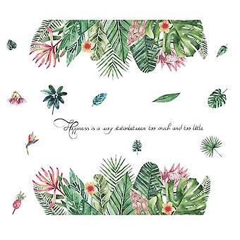 Tropikalny kwiat roślina naklejki naklejki Naklejki Sypialnia Tło Pasta