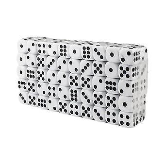 Kostki sześciostronne, 100 szt-Biały