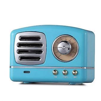 Retro Bluetooth Høyttaler Innovativ Radio Retro Bærbar Mini Trådløs Bluetooth Høyttaler Blå