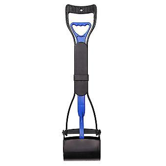 Long Handle Pet Toilet Picker, Dog Clip, Stool, Pet Cleaning Supplies(Blue Black)