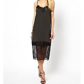 ASOS Velvet Cami jurk met kant Trim DR842-6