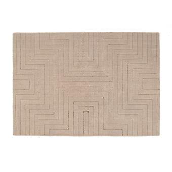 Carved Maze Mink  Rectangle Rugs Plain/Nearly Plain Rugs