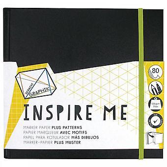 Derwent Graphik Inspire Me Book - 20cm Square
