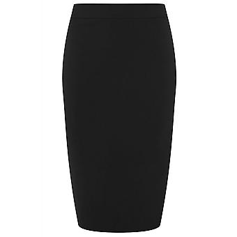 Collectif Clothing Polly Plain Bengaline Skirt Black