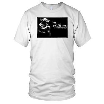 Yoda prøve ikke - motivasjon Bodybuilding vekt trening Fitness Kids T skjorte