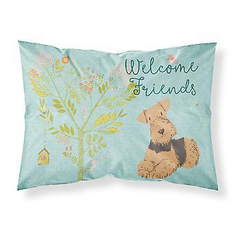 ようこそ友達エアデール テリア生地標準的な枕カバー