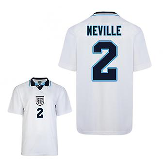 Score Draw England Euro 1996 Home Shirt (Neville 2)